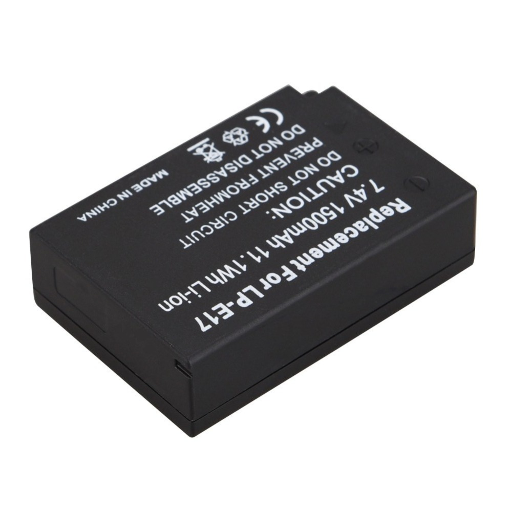1Pcs 1500mAh LP-E17 LPE17 LPE 17 Digital Camera Batteries For Canon EOS M3 M5 750D 760D T6i T6s 8000D Kiss X8i Battery