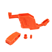 Black Orange Transparent WORKER Modified Dagger Cover Shaped Toy Accessories kit for Nerf Stryfe