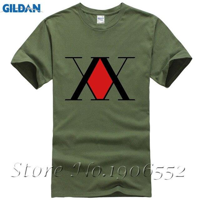 dd93472a0 Mężczyźni O-neck Krótki Rękaw Bawełna Duży Rozmiar T shirt Stylowe Hunter x  Hunter męskie