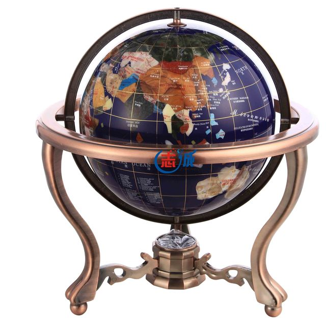 Superb XXXG High Grade Gem Globe Crystal Ornaments Covering European Office Desk  Study Decoration Living Room