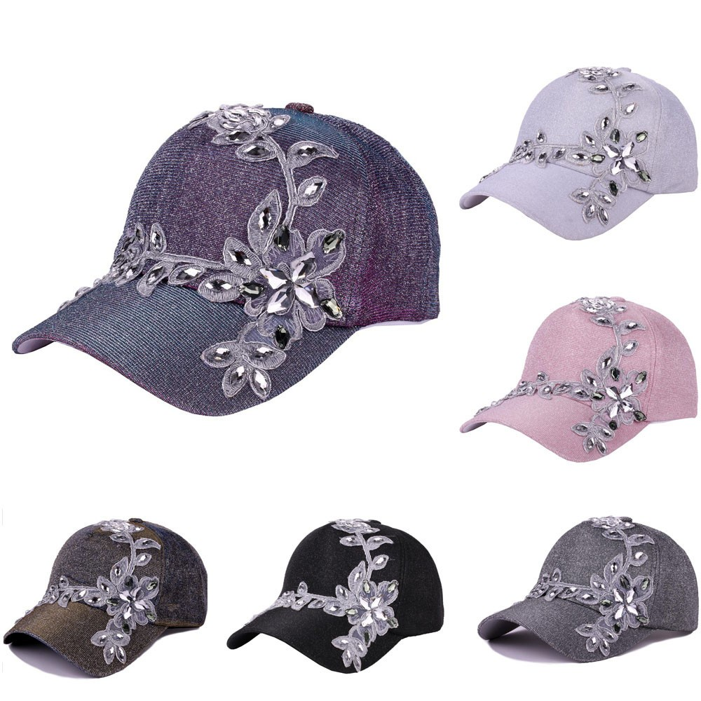 Girl Women Rose Flower Summer Casual Hip-Hop Baseball Cap Adjustable Hat Peak