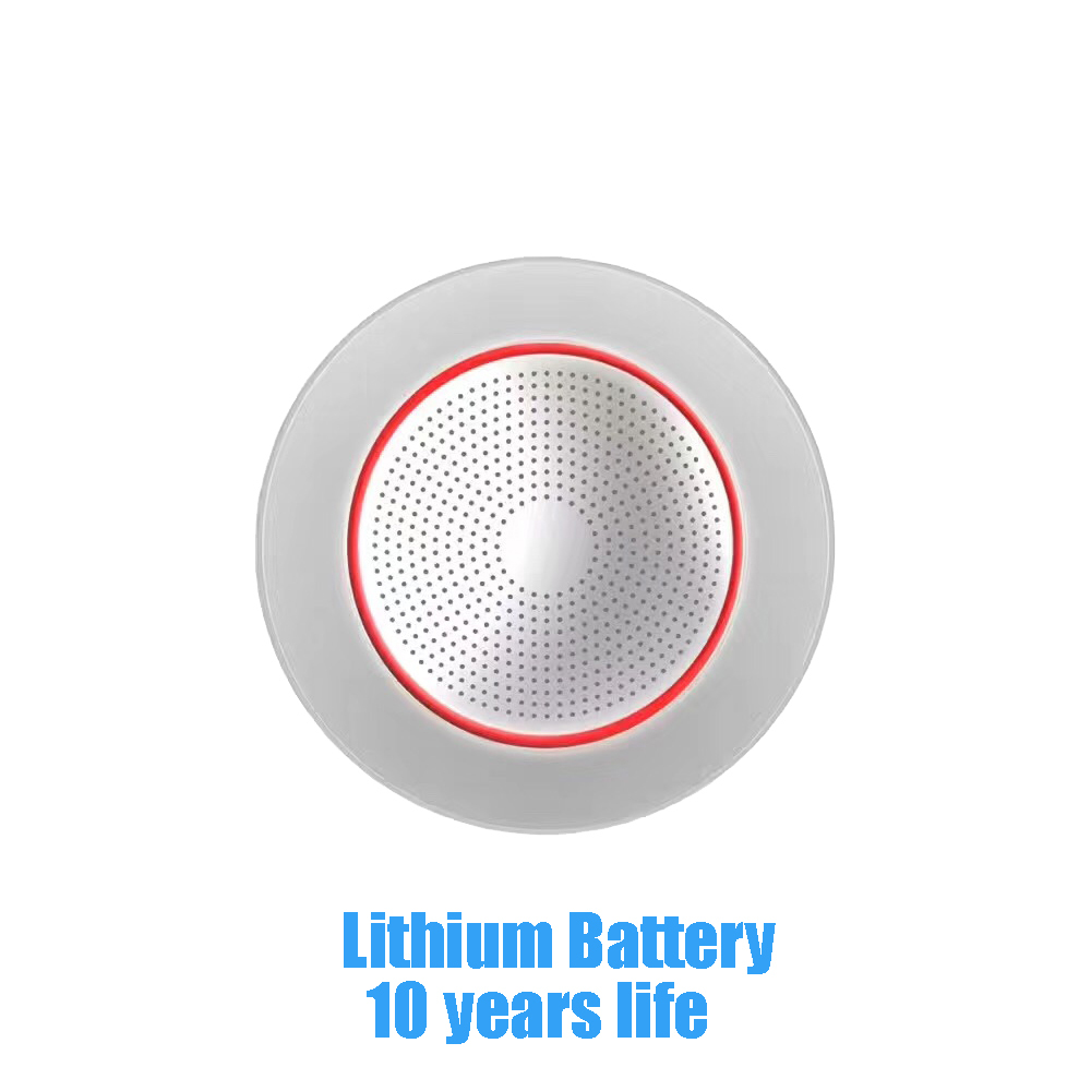 (1 Pcs) 10 Years Life Lithium Battery Wireless Smoke Detector 433Mhz Fire Control Sensor Alarm Accessories New Product ...