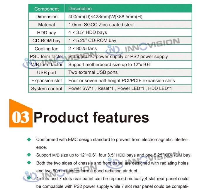 Функциональное 2U крепление в шасси RC2400W, поддержка Mirco ATX Серверная материнская плата