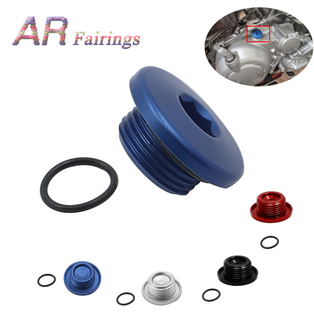 Aluminum For Yamaha YFM700 YFM 700 Top Crankcase Oil Filler Plug & O Ring Raptor Quad Blue Black Silver Red
