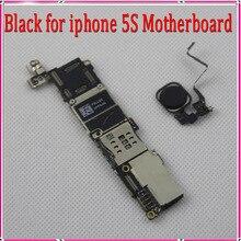 64 gb negro para iphone 5s motherboard con botón de inicio, abierto original para iphone 5s placa base con touch id y el envío libre
