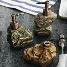 Керамика Винтаж камень шампунь бутылка дезинфицирующее средство для рук лосьон для тела для жидкого мыла бутылка лосьона Портативный мыла