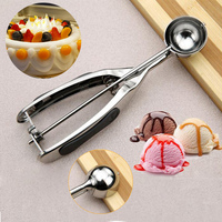 4 4cm Stainless Steel DIY Ice Cream Ball Scoop Of Cake Moulds Fruit Ball Spoon Dig
