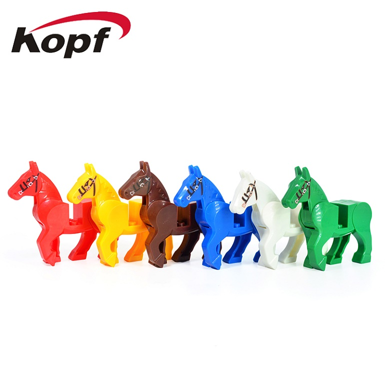 Game of Thrones White Red Blue Yellow Green Brown Horse Bricks Model Building Blocks Action Figures Toys for children KF1049 ...