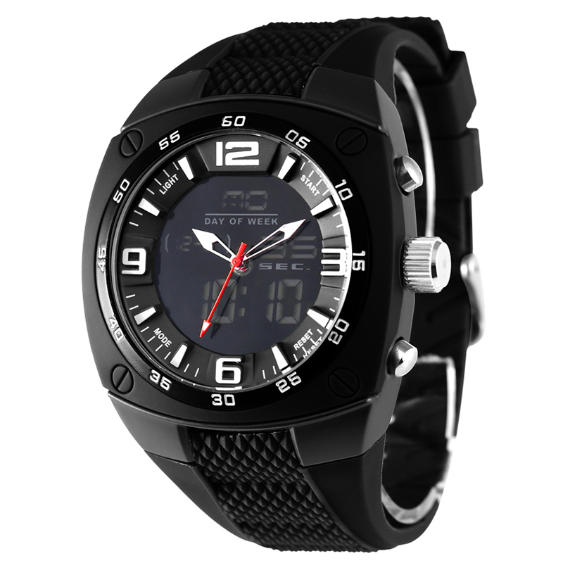 2016 Hot Sell Brand Luxury Quartz Digital Sports Watches Men Leather LED Military Army Waterproof Diving Wristwatch Reloj Hombre
