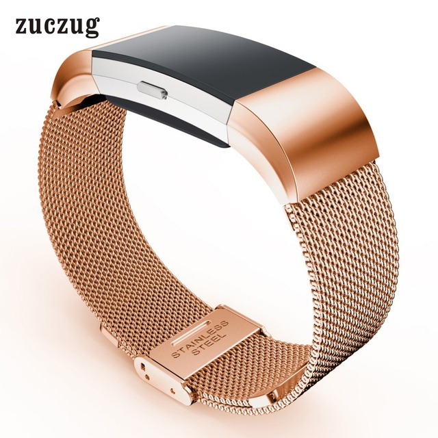 9e7b64eaaa38 Zuczug Durable and Elegant Milanese Loop Stainless Steel Metal Watch Band  Strap For Fitbit Charge 2 Gold Silver Black Rose Gold