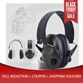 Tiroteio Earmuff Tático Anti-Cancelamento de ruído Fones De Ouvido Para O Esporte de Caça TAC 6s Proteção Earmuffs Ouvido Eletrônico