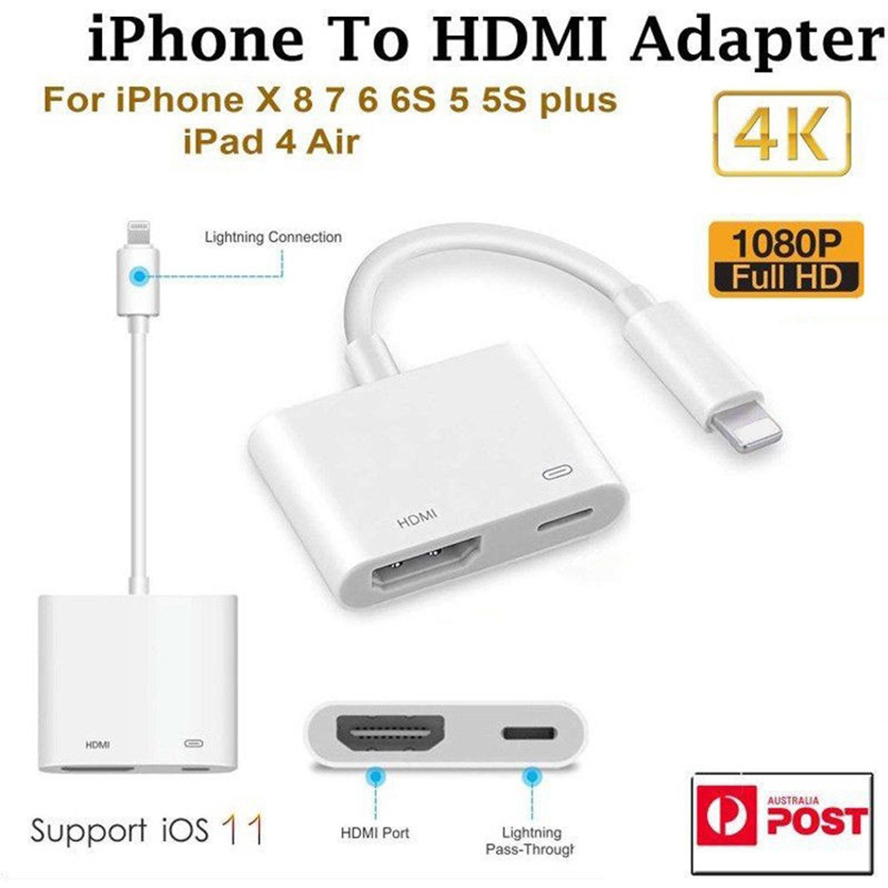 2019 NEW Arrival Professional HDMI Cable <font><b>Adapter</b></font> for <font><b>Apple</b></font> Interface 8Pin to HDMI <font><b>Digital</b></font> <font><b>AV</b></font> Converter for iPad iPhone iOS 11 10 image