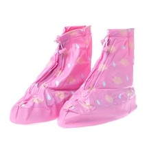 2018 Children Girl Waterproof Raining Boots Shoes Cover Wear Proof Anti Slip Reusable For General Fashion New Pink Transparent