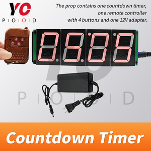Image 2 - אלחוטי ספירה לאחור טיימר חדר בריחה משחק אבזרי ארבע תצוגה דיגיטלית משתמשים יכול להגדיר זמן YOPOOD אמיתי חיים Takagism משחק ספק