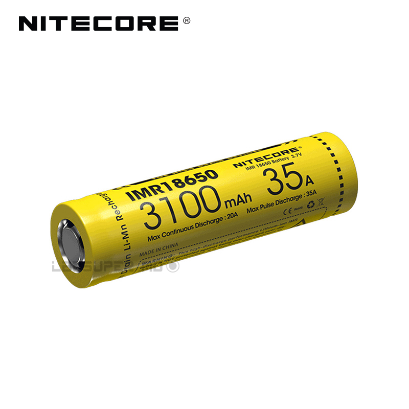 Factory Price Nitecore IMR 18650 3100mAh 35A High Drain Battery Ideal for Vaping Devices аккумулятор 18650 lg he4 high drain 2500mah 20a 35a