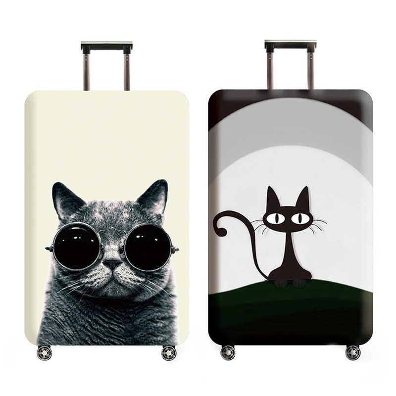 Leuke Kat Bagage Cover 18-32 Inch Reizen Koffer Elastische Beschermende Covers Trolley Kofferbak Dust Case Reizen Accessoires