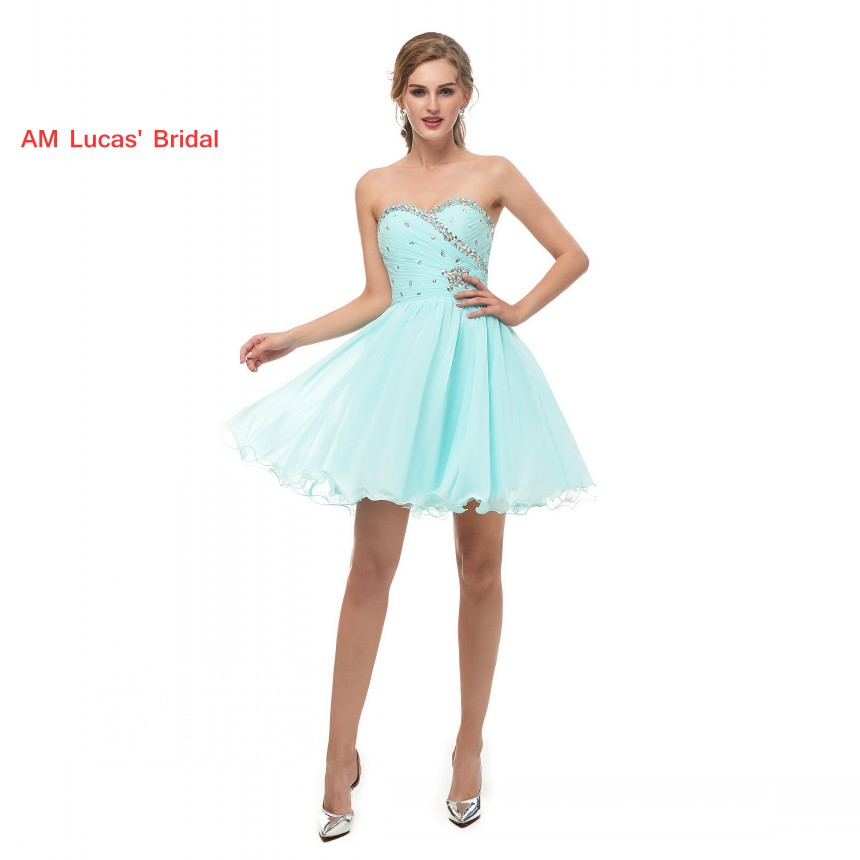 Elegant   Cocktail     Dress   2019 New Beaded Crystals Evening Party Gowns Short About Knee Prom   Dresses