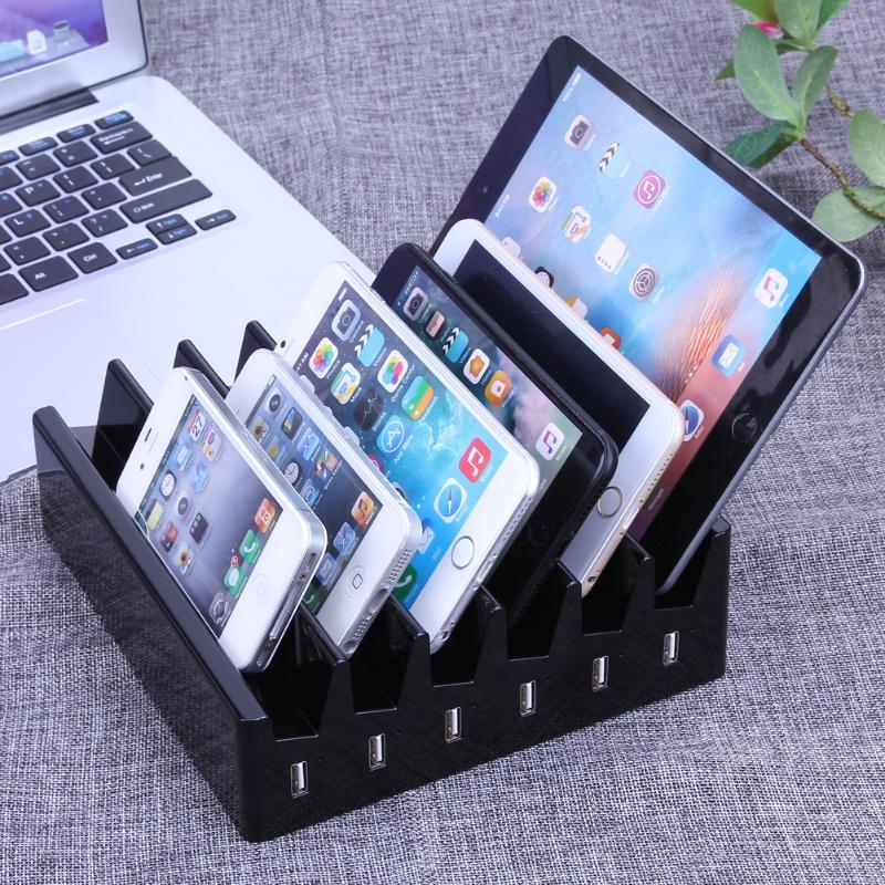 Dock Intelligent de chargeur de la prise AU 6 ports pour la tablette de téléphone portable, support rapide Intelligent de boîte de chargement AC chargeur 220 V à 5 V USB