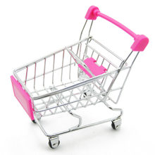 4 Colors Shopping Cart Mini Trolley Toy Pretend Handcart Baby Toys Utility Carts Storage Basket Toys for Children Pretend Toys(China)