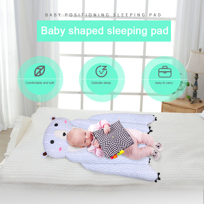Baby Bed Mattress Adorable Cartoon Style Sleep Positioner Body Support for Infant Crib Stroller @ZJF