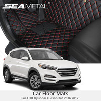 For LHD Hyundai Tucson 3rd 2017 2016 Car Floor Mats Rugs Auto Rug Cover Car Styling