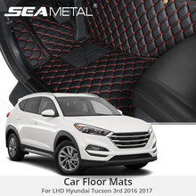For LHD Hyundai Tucson 3rd 2017 2016 Car Floor Mats Rugs Auto Rug Cover Car-Styling Custom Leather Covers Interior Accessories
