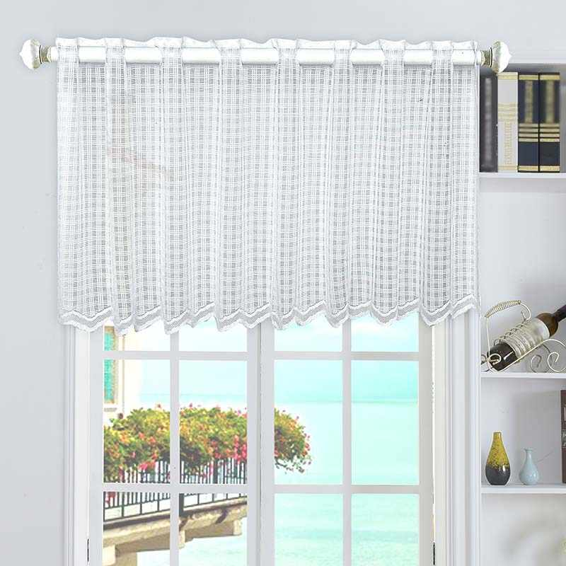 Short Curtain Mesh White Door Drape Screen for Kitchen Cabinet Bookshelf  Window Wall Decoration Best Price