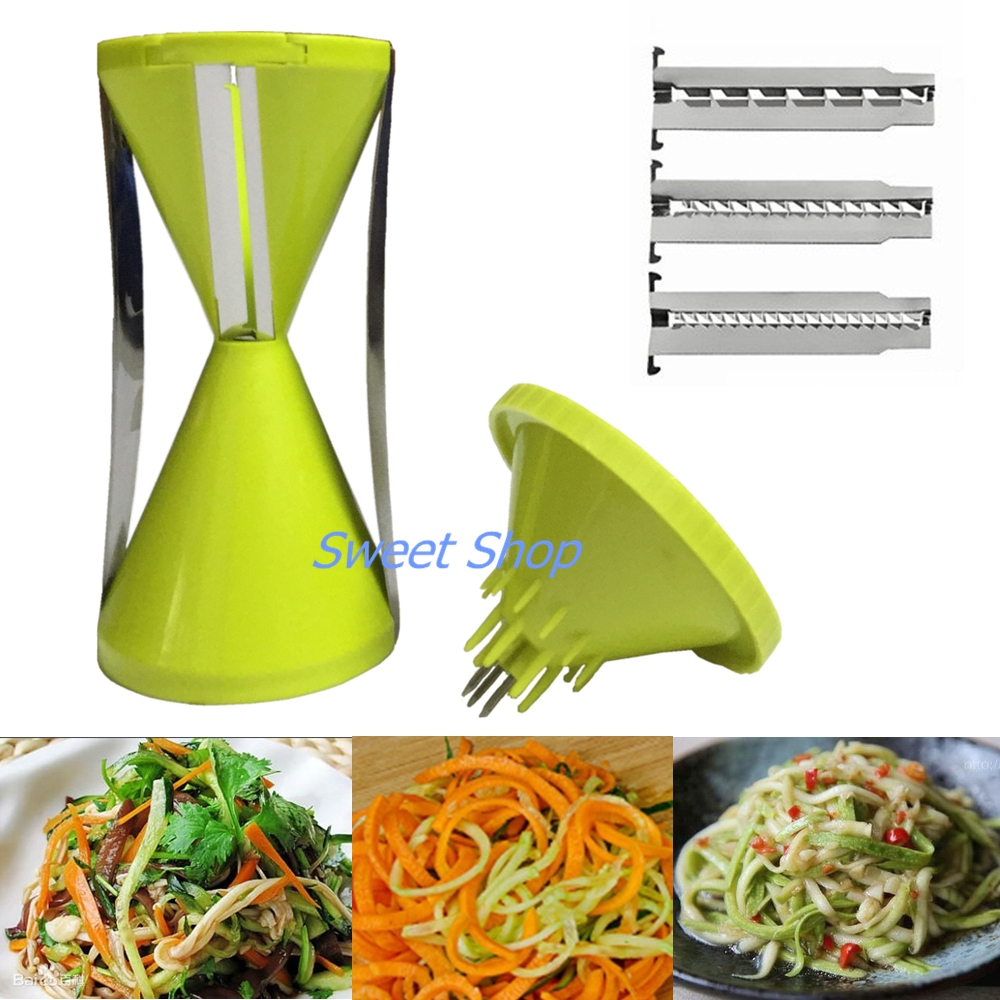4 Blades Vegetable Spiralizer Spiral Vegetable Slicer Kitchen Gadget