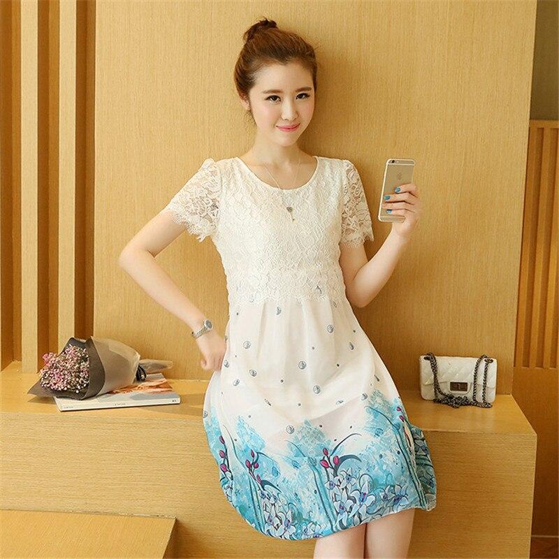 Maternity Clothes Pregnancy Clothes Plus Size Women Clothing Loose Mesh Pregnancy Dress Maternity Dresses M37