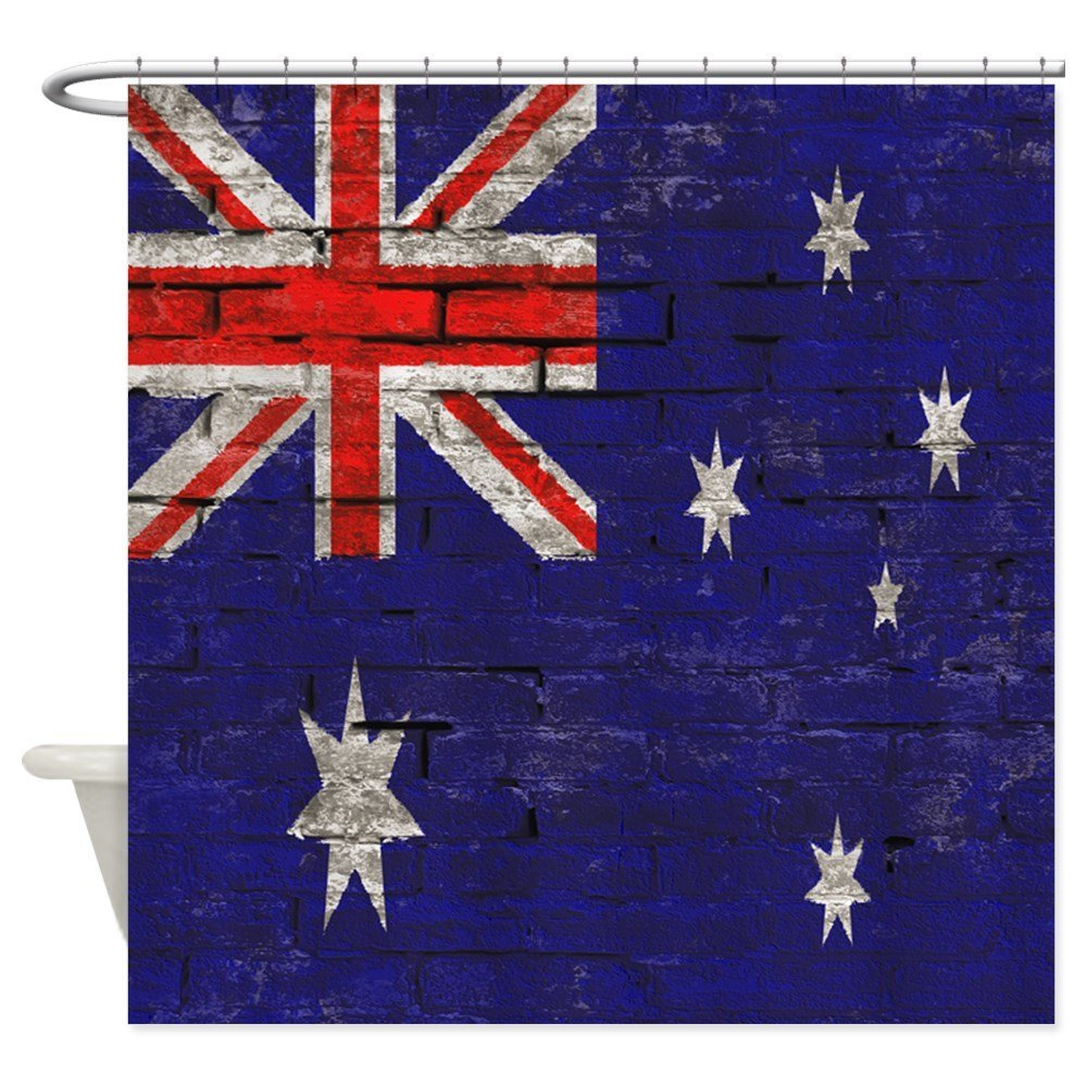 Australian Flag Shower Curtain Shower Curtain Decorative ...