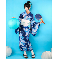 Women Japanese Traditional Kimono with Obi Vintage Female Evening Kimono Dress Japan Kimono Flower Yukata Bathrobes