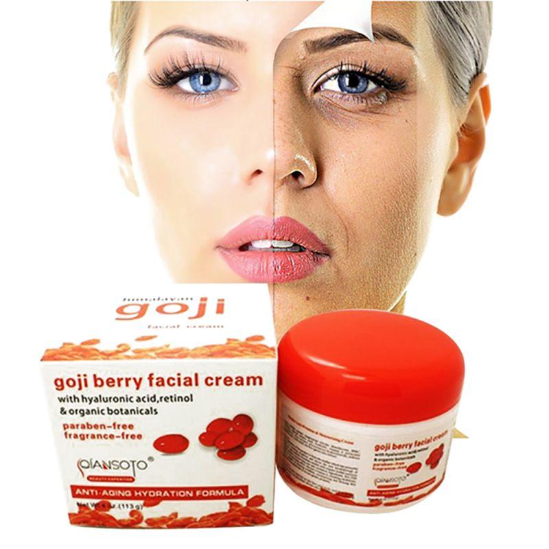 1pcs Goji Nourishing Facial Cream Anti Wrinkle Cream Imported Raw Materials Skin Care Anti Aging Wrinkle Firming Face Care filorga anti wrinkle набор anti wrinkle набор