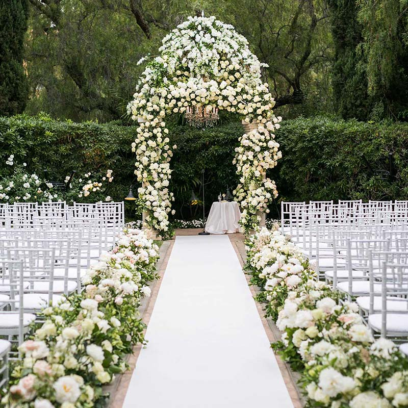 Special Occasion Show Aisle Runner White Wedding Carpet
