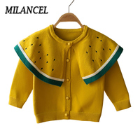 MILANCEL 2018 Baby Girls Clothes 2 Years Autumn Girls Cardigans Watermelon Girls Sweaters Girls Winter Tops