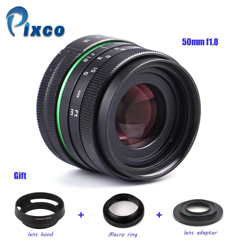 Здесь продается  50mm f/1.8 APS-C Lens + Lens Hood + Macro Ring +16mm C Mount adapter for Nikon 1 / M4/3 /Pentax Q / Nex / Fuji/for canonM camera  Бытовая электроника