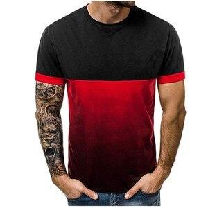 2019 new men's T-shirt round c