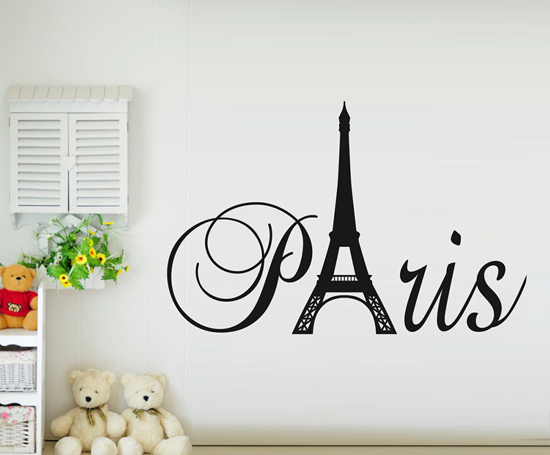 Aliexpress Paris Art Eiffel Tower Removable Vinyl Wall Stickers Decals Quote Living Room Bedroom Background Home Decor 37x60cm From Reliable