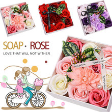 Immortal Flower Soap ValentineS Day Romantic Rose Gift Boxed Scented Celebration Beautiful