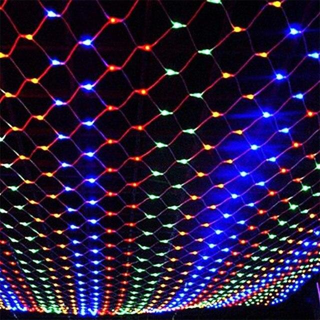 HQ 3 M X 2 M 260 LED Net Luz Vermelha de la lampara Luzes De Natal Festa de Casamento Decoração Ao Ar Livre CONDUZIU a Iluminação à prova d' água