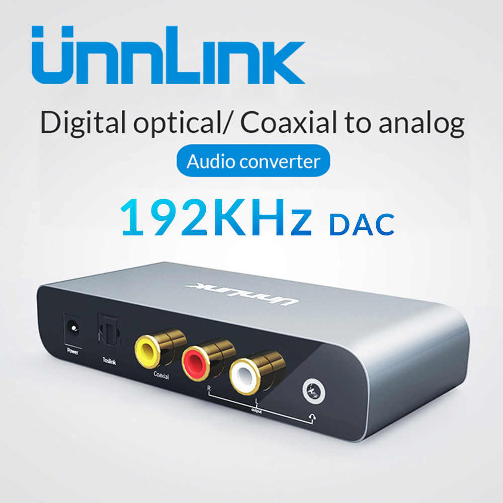 Digitale ad Analogico Audio Adattatore 192KHz 24Bit DAC SPDIF Ottico Toslink Coassiale RCA jack da 3.5 per Smart TV box DVD ps4 xbox