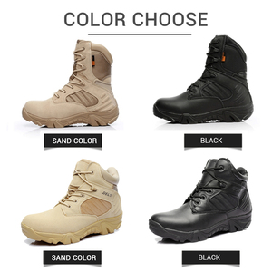 Image 4 - Motorcycle Boots High Ankle Racing Moto Boots Men Military Boots Quality Special Force Tactical Desert Combat Army Work Boots