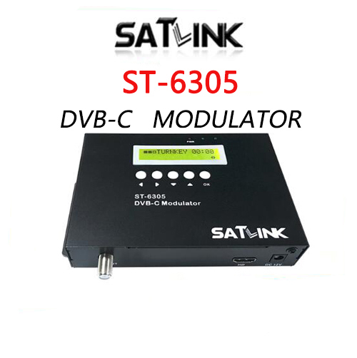 Satlink ST 6305 DVB C Modulator convert HD signal to DVB C RF out converts HD
