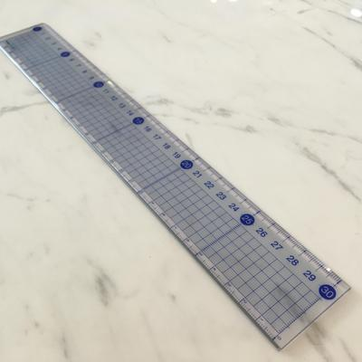 30cm Jewelry Hand-painted Sharps Precise Measurement With Mm Square Ruler Professional Design Ruler
