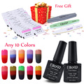 Elite99 Pick Any 10 Colors Nail Gel Polish Chameleon Changing Temperature Change Color Gel Lacquer with 30pcs Free Remove Wraps