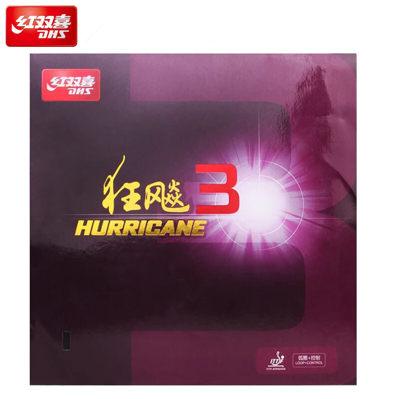 DHS Original Hurricane 3 New Version Table Tennis Rubber Pips-in Ping Pong Accessories Equipment Tenis De Mesa