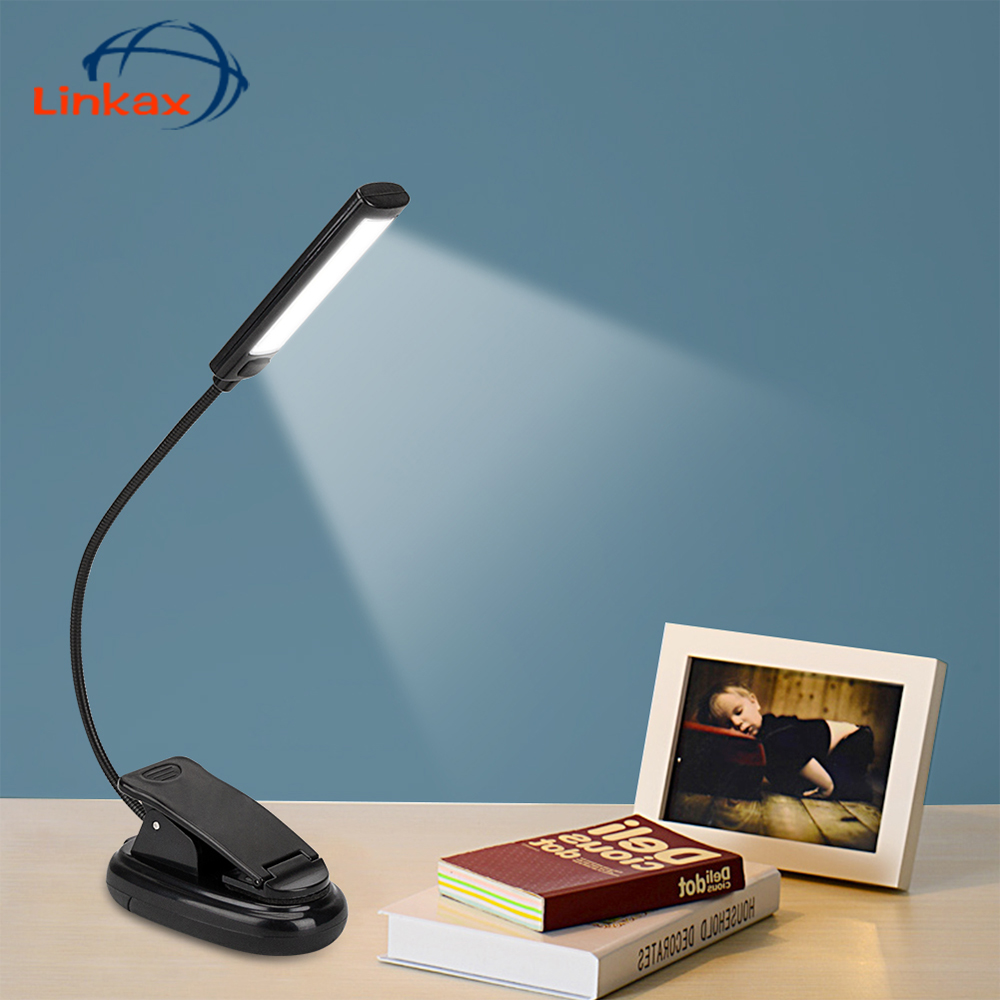 Collapsible Super Bright Portable LED Desk Lamp 3-Mode Compact Light Lamp