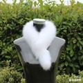 hot sale  thermal fashion fur scarf collar fox fur muffler scarf fox fur full leather scarf,