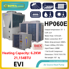 6.2KW or 21,000BTU air source water heater used in ultra low temperature for radiator, please check with us about shipping costs