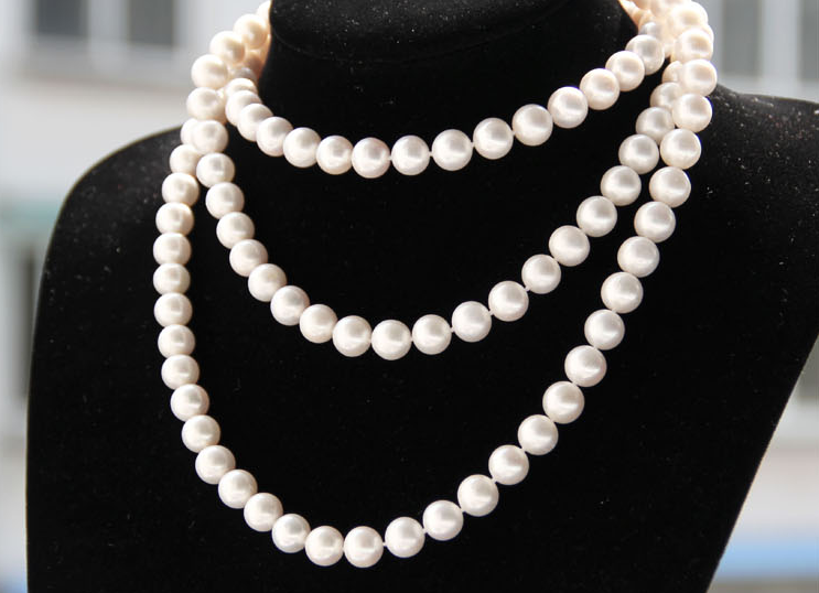 Wedding women Jewelry 63 160cm 8-9mm Top AAA Natural Freshwater pearl Round White Pearl Long Necklace highlight HandmadeWedding women Jewelry 63 160cm 8-9mm Top AAA Natural Freshwater pearl Round White Pearl Long Necklace highlight Handmade