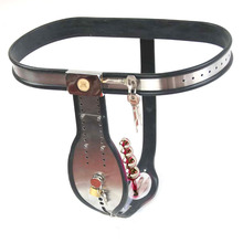 Amazing Price stainless steel male chastity belt metal underwear bdsm bondage lock cock cage chastity device sex toys for men